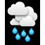 Overcast, rain
